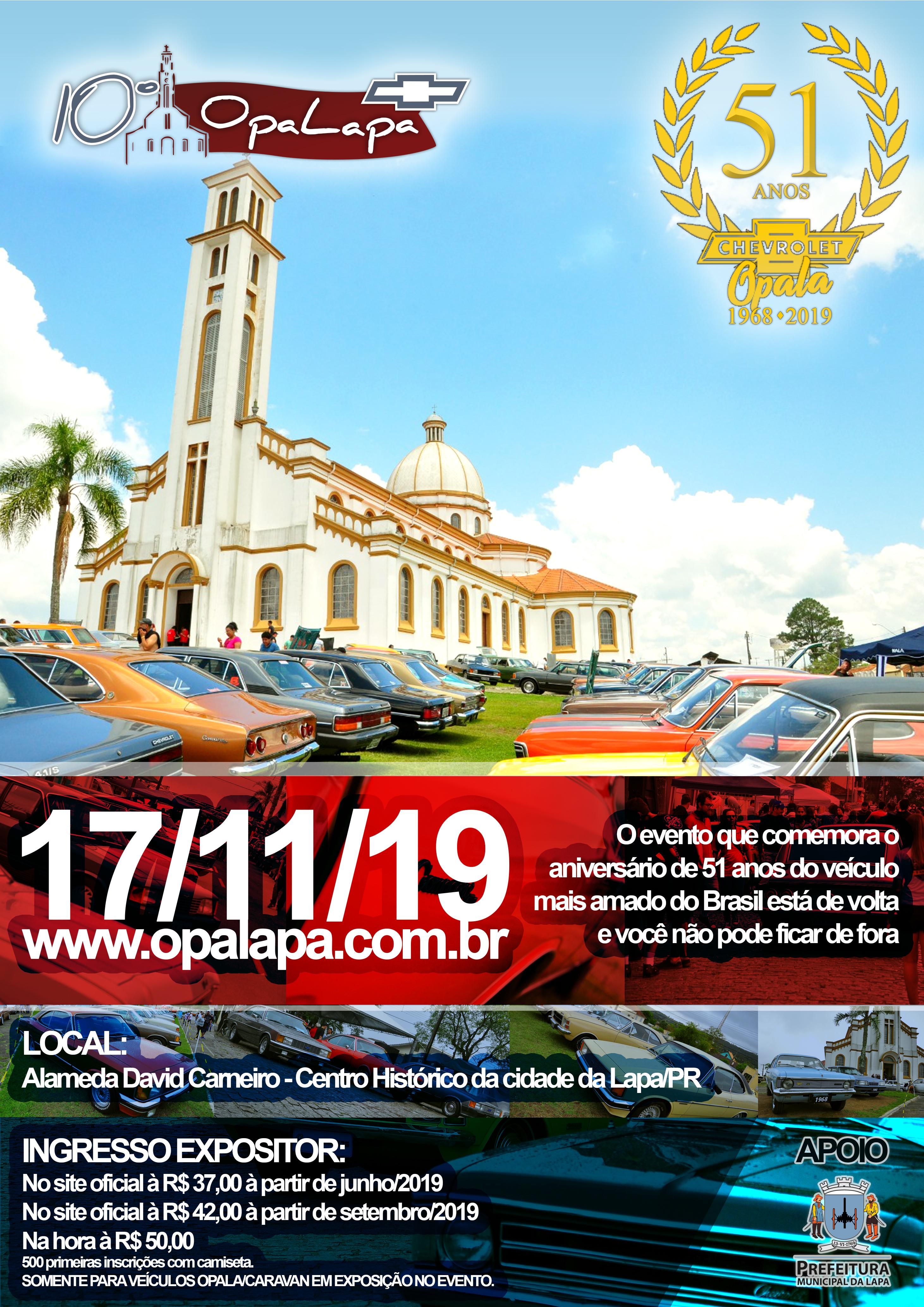 Folder de divulgação Opalapa 2019